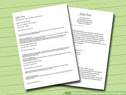 Non Profit Resume 3 Ways To Write A Resume For A Non Profit Agency Wikihow