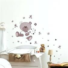 chambre bébé ourson sticker pour chambre dessin pour chambre bebe 4 stickers chambre