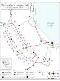 Map Of Glacier National Park Glacier National Park Bowman Lake Campground Information