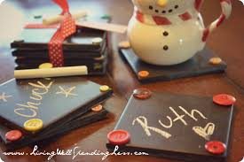 Homemade Gift Ideas by Cute Christmas Gift Ideas Withal Diy Chalkboard Coaster Set