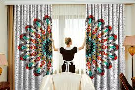 mandala window curtains indian drape balcony room decor boho