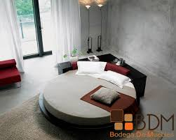 bedroom awesome unique platform round bed by vig furniture with awesome unique platform round bed by vig furniture with sisal rugs and white grommet curtains for modern bedroom design