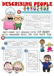 physical description esl worksheets of the day pinterest