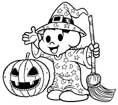 no halloween desenho de monica e cebolinha no halloween para colorir tudodesenhos