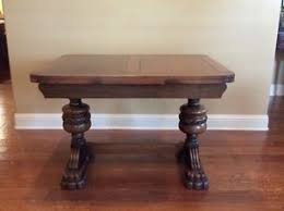 table with slide out leaves antique english oak pull out leaf dining table with glasstop ebay