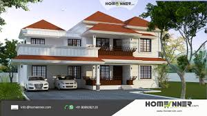5 Bedroom House Designs Modern Luxury 4 Bedroom Traditional Slope Roof Kerala Home Design