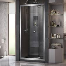 Bifold Shower Door Shop Dreamline Butterfly 34 In To 35 5 In W Frameless Chrome