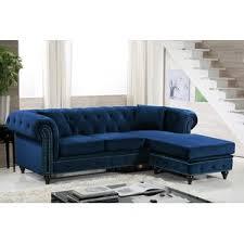 Sectional Sofa Blue Navy Blue Sectional Sofa Wayfair