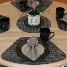 Wedge Placemats Driftwood Black And Tan Wipeable Wedge Shaped