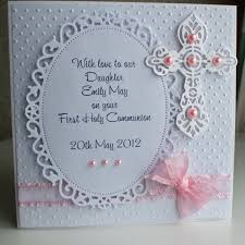 First Communion Invitations Cards Handmade Personalized First Holy Communion Card For A By