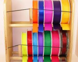 spools of ribbon ribbon holder storage rack organizer holds 80 spools no dowels