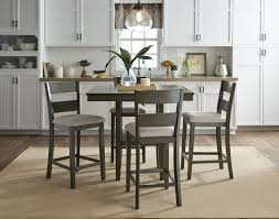 Pub Height Dining Room Sets Pub Counter Height Dining Set Weathered Grey