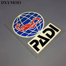 Padi Flag 3 Sizes Outdoor Sports Car Stickers Padi Sticker Vinyl Tape
