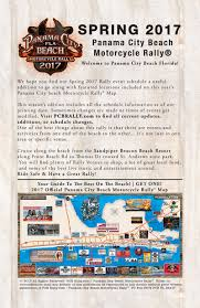 Map Of Panama City Beach Florida by 2017 Panama City Beach Motorcycle Rally Guide Spring Rally Guide