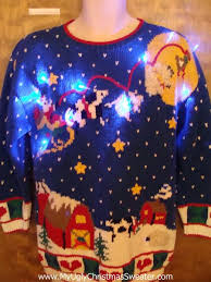80s farm animals 2sided light up ugly christmas jumper