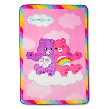 care bears bed blanket 62x90 pink target