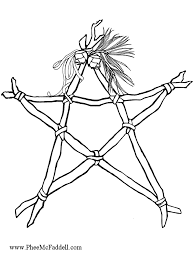 sticks string stars black white color