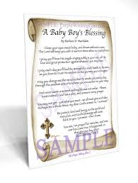 blessing baby baby boy s blessing framed and personalized gifts