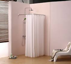 Corner Shower Curtain Hanging Shower Curtain Rod Pmcshop Ideas To Install Corner Shower