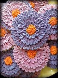 zinnia flowers cookies with character zinnia flower cookies