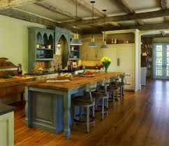 Country Kitchen Design by Kitchen Rustic British Country Kitchen With Coffered Wood