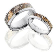 camo wedding bands his and hers get a matching set of titanium wedding bands for you both in