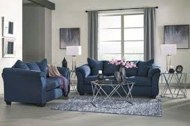 ashley furniture blue sofa ashley furniture darcy blue sofa and loveseat 7500738 ebay