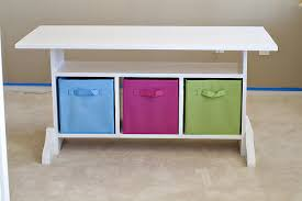 children s desk with storage ana white kids elementary trestle storage play table diy projects