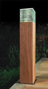 Landscape Bollard Lights Iroko Wooden Led Bollard Light Solid Wood Led Bollard Lighting