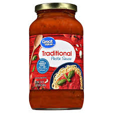 wedding gift spaghetti sauce great value traditional pasta sauce 24 oz walmart