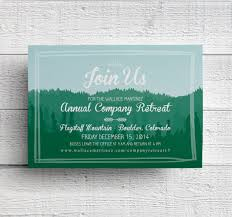 company retreat invitation mountain invitation company
