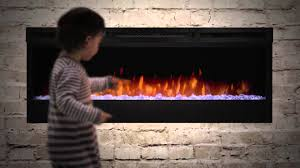 lighting dimplex electric fireplace insert in linear with painted