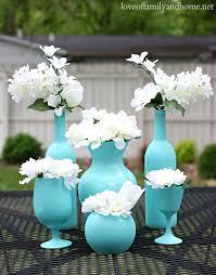easy inexpensive centerpiece ideas spray painted vases love