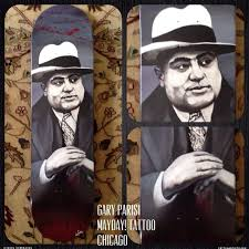 Al Capone Tattoos Al Capone Painted Skateboard By Gary Parisi Artists Org