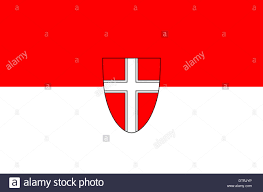 Federal Flag Half Mast Flag Of The Austrian Federal State Of Vienna Stock Photo Royalty