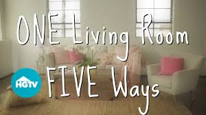easy ways to decorate a living room video hgtv