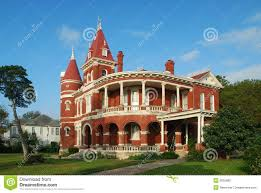 red brick queen anne home stock photography image 3655882