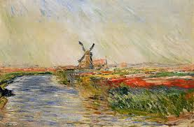 tulip field in holland 1886 claude monet wikiart org