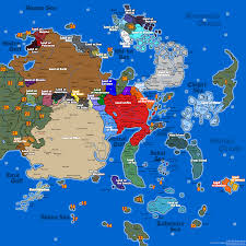 World Continent Map Central Ninja Continent Map By Gou By Fire Daimyo On Deviantart