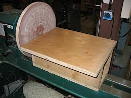 wood disk turn your lathe into a disk sander