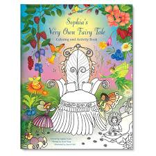 fairy tale coloring book personalized