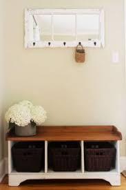 Entryway Storage Bench With Coat Rack Entryway Wall Mount Coat Rack W Shoe Storage Bench In White