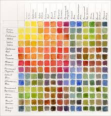 color chart color mixing chart charts and watercolors