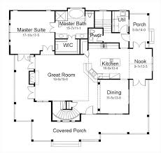 First Floor House Plan The Burnet 7401 3 Bedrooms And 2 Baths The House Designers