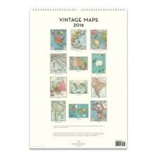 cavallini calendars cavallini papers 2016 wall calendar vintage maps 13 x 19 eco
