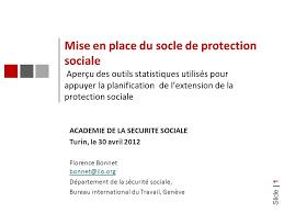 bureau assurance sociale slide 1 mise en place du socle de protection sociale aperçu des
