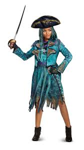 amazon com disney uma deluxe descendants 2 costume teal small