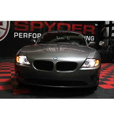 eye bmw headlights xenon 03 08 bmw z4 e85 eye halo projector headlights black