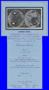 Titanic Second Class Menu by Pan Am Dining Menus