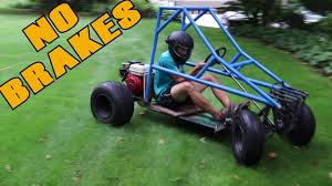 homemade truck go kart first drive in the off road go kart off road kart build part 3